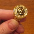 Отдается в дар Перстень «золотой с брульянтами»
