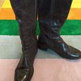 Отдается в дар Сапоги женские демисезонные кожаные 37,5-38