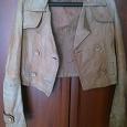 Отдается в дар Кожаная куртка 42 размер.