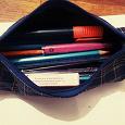 Отдается в дар Пенал, набитый канцелярией: карандаши цветные, текстовик, ластик, точилка и пр.