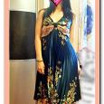 Отдается в дар изумрудное платье с открытой спиной