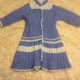 Отдается в дар Платье вязанные очень теплое на 2-3 года