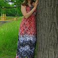 Отдается в дар платье летнее длинное 48-52 размер