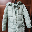Отдается в дар Зимняя куртка светло-зеленого цвета