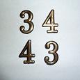 Отдается в дар Цифры 4 и 3 для номера квартиры или др.