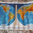 Отдается в дар Карта полушарий и политическая карта мира