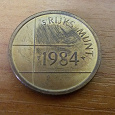 Отдается в дар жетон Нидерланды 1984 RIJKS MUNT Голландский монетный двор