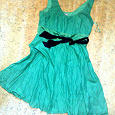 Отдается в дар новое летнее зеленое платье 46 размер
