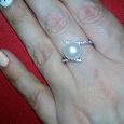 Отдается в дар Кольцо серебро 925, натур.жемчуг 2 карата 17 размер