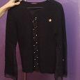 Отдается в дар Шикарный черный шерстяной свитер 42-44 размер