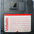 Отдается в дар Дискета Verbaitim 3х дюймовая — икона стиля из 90х!