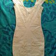 Отдается в дар Белое трикотажное платье Bershka s