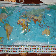 Отдается в дар Карта мира политическая (2 разных)