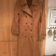 Отдается в дар Пальто кожаное осеннее бежевое, 42 размер