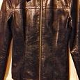 Отдается в дар Курточка демисезонная черного цвета, под кожу, 42р.