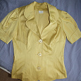 Отдается в дар Атласная блузка-пиджак 44 размер