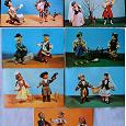 Отдается в дар набор открыток «Куклы в национальных костюмах народов СССР», 1967 г.