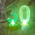 Отдается в дар Декоративные свечи с цифрой 30