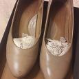 Отдается в дар туфли экко бежевые 36 размер