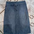 Отдается в дар юбка джинсовая 42-44 р-р
