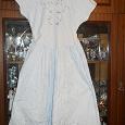 Отдается в дар платье летнее св.голубое х.б р44-46 с вышивкой
