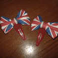 Отдается в дар заколки с британским флагом