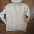 Отдается в дар Шерстяной супер свитер 48-50 Ручная вязка
