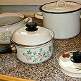 Отдается в дар Эмалированная посуда для кухни бу