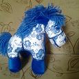 Отдается в дар Мягкая игрушка: лошадка-гжель