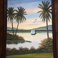 Отдается в дар Картина на холсте «Пейзажи близ Туниса»