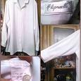 Отдается в дар 2 белые блузы с длинным рукавом, р-р 60-62