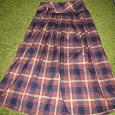 Отдается в дар клетчатая юбка в пол 48 размер