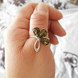 Отдается в дар Кольцо серебро с янтарем