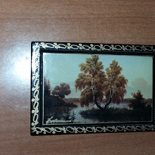 Отдается в дар Картина на дереве миниатюра