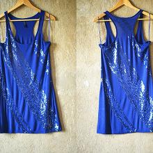 Отдается в дар Платье М/L синее с пайетками