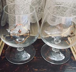 Отдается в дар «Courvoisier фирменные бокалы»