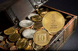 Отдается в дар «Израиль. ½ нового шекеля»