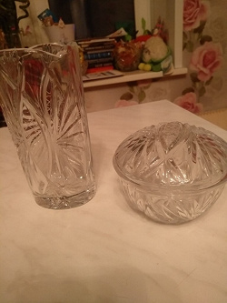 Отдается в дар «Хрустальная вазочка с крышкой»