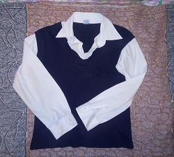 Отдается в дар «Рубашка -обманка для школьника 134 -140»