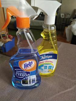 Отдается в дар «средство для мытья стекол»