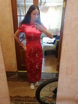 Отдается в дар «Платье в китайском стиле / цветы сакуры»