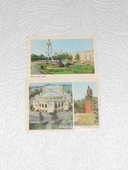 Отдается в дар «Две открытки Киев»