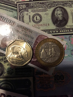 Отдается в дар «Монета 1 соль Перу Горный тапир»