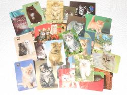 Отдается в дар «Коллекция календариков с кошками»