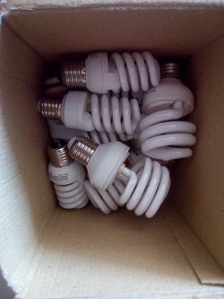 Отдается в дар «Лампочки энергосберегающие»