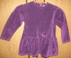 Отдается в дар «фиолетовое бархатное платье на 9-12мес.»