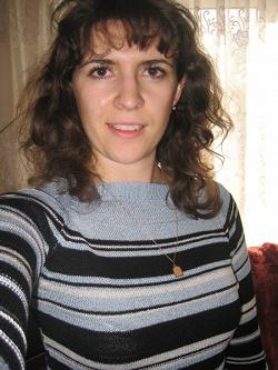 Отдается в дар «Голубой свитер в полоску, размер 44-46»