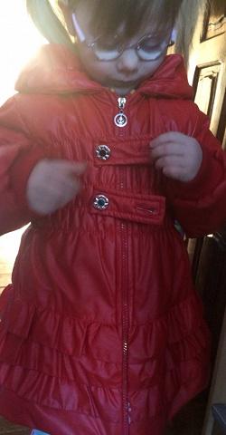Отдается в дар «Пальто девочке «помидорка». ))»