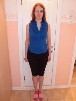 Отдается в дар «Синяя блузка без рукавов»