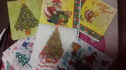 Отдается в дар «Салфетки для декупажа Новогодние»